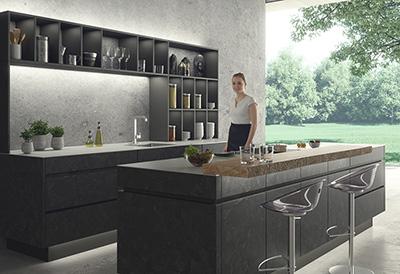 Rendering Innenarchitektur Leicht Küche