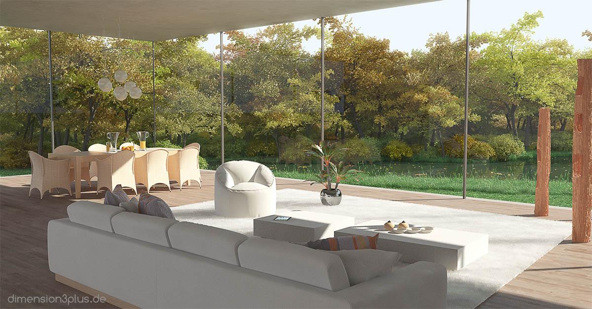 Visualisierung-Wohnzimmer-Loft