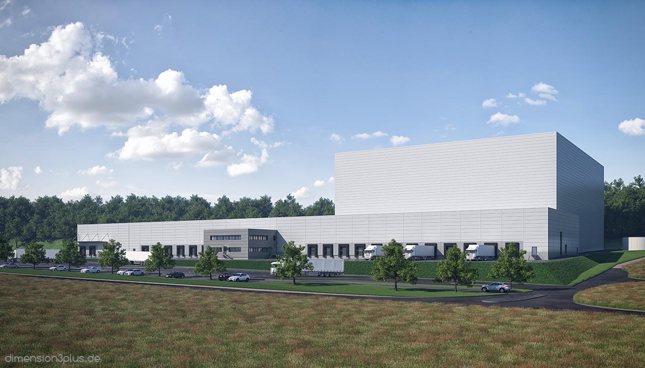 Architekturvisualisierung Industrie Goldbeck