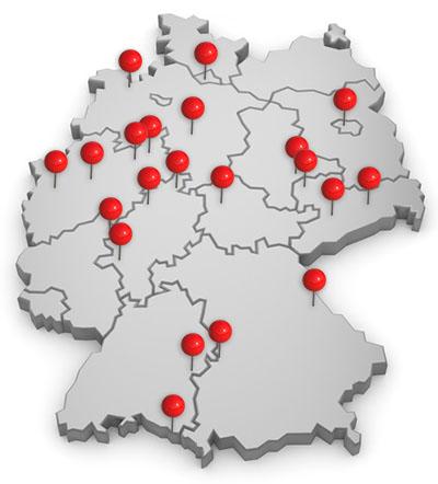 Deutschlandkarte Referenzen